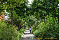 Lush and green pathway of the Promenade Plantée