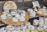 Selles-sur-Cher a goat's milk cheese from Sologne and Crottin du Morvan