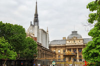 Sainte-Chapelle is next to the Palais de Justice