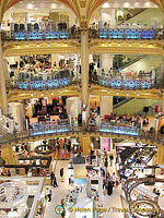 Shopping at Galeries Lafayette