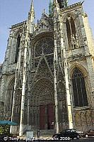 This famous west facade was frequently painted by Monet [Rouen - France]