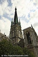 This neo-Gothic cast iron spire was erected in 1876. [Rouen - France]