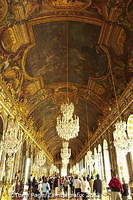 Hall of Great Mirrors where large receptions, royal weddings and ambassadorial presentations were held.