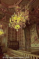 The apartment was occupied by each queen in succession, the last being Marie-Antoinette