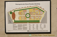 Map of the rose garden at Bamberg Neue Residenz