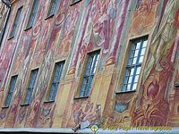 Painted facade of Bamberg Old Town Hall