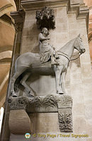 The famous Bamberger Reiter at Bamberg Cathedral