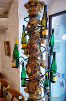 A vine of wine bottles