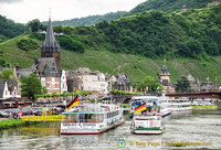 River cruise boats arriving at Bernkastel