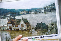 Picture of Bernkastel in the December 1993 Mosel River flooding
