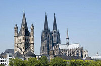 Groß St. Martin and Cologne Cathedral