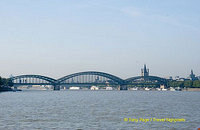 Hohenzollern Bridge crossing the Rhine