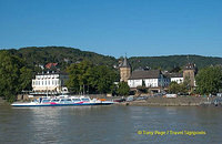 The Linz-Remagen ferry at the town of Linz