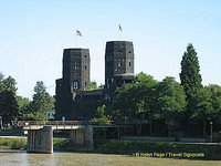 The Remagen Bridge towers are now home to the Friedensmuseum