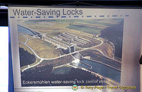 Aerial image of water-saving locks