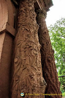 Ornate engravings on Heidelberg Castle gate columns