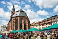 The Gothic Heiliggeistkirche on Heidelberg Market Square