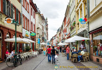 Heidelberg Hauptstrasse is one of the longest pedestrian streets in Europe