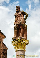 Hercules statue in Marktplatz, a symbol of the strength of Heidelberg residents