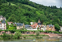 Neckar River view of Heidelberg