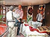 Hendrik and Tony guarding the desert table