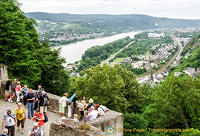 View of the Rhine and Braubach town
