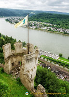 Magnificent Rhine River view from Marksburg