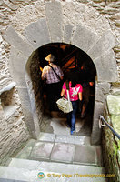 Marksburg Castle - going into the 17th century wine cellar