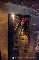 Ascending to the Marksburg Castle kitchen