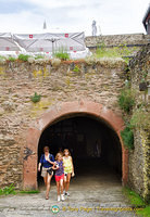 Marksburg - vaulted tunnel to the Drawbridge Gate