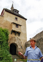 Marksburg's third gate - the Shartentor (Notches Gate)