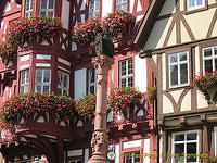 Miltenberg's marketplace, Schnatterloch, in the historical Old Town