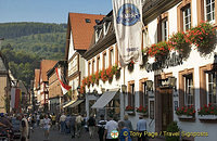 Colourful main street of Miltenberg