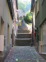 A great thing to do in Miltenberg is to explore all the back alleys and little laneways