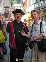 Willy Herth, Miltenberg's singing guide, trying to snare Tony for a tour.