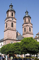 The twin towers of Stadtpfarrkirche St. Jakobus