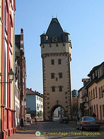 Würzburger Tor is one of two gateways that mark the boundaries of Miltenberg's Old Town