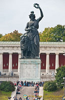 Bavaria statue is a female personification of the Bavarian homeland