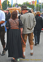 Locals enjoying Oktoberfest