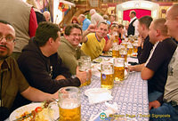 A happy group in the Hofbräuhaus Festival Hall