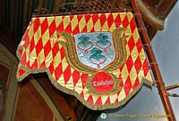 Very old flags of dominions once ruled by Bavaria.  This one is from Landshut.