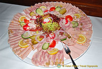 A platter of cold meats