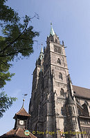 Twin towers of St. Lorenzkirche