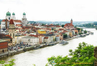 View of Passau and the Danube
