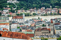 View of Passau from the Observation Tower