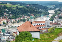 Aerial view of Passau