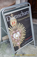 Domschatz - cathedral and diocesan museum. Entry is from the Neue Residenz