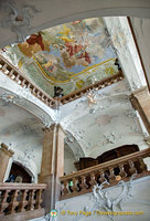 Staircase and ceiling fresco are noteworthy features of the Neue Residenz