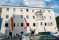 Passau tourist office on Rathausplatz