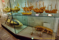 Models of various river boats
